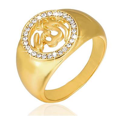 povoljno Prstenje-Muškarci Band Ring Pečatni prsten 1pc Zlato 18K pozlaćeni Pozlaćeni Legura Geometric Shape Kvadrat Jedinstven dizajn Vintage Vjenčanje Dnevno Jewelry Vintage Style 3D Kereszt Kreativan Cool