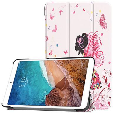 Недорогие Чехлы и кейсы для Xiaomi-Кейс для Назначение Xiaomi Xiaomi Tab 4 Кошелек / со стендом / С узором Чехол Бабочка / Соблазнительная девушка Твердый ПК