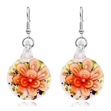 Žene Viseće naušnice Klasičan dame Stilski Klasik Naušnice Jewelry Light Orange / Svjetloplav / Svijetlo zelena Za Dnevno 1 par