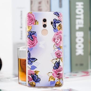 Θήκη Za Samsung Galaxy S9 Plus / S9 Prozirno / Uzorak Stražnja maska Rukav leptir / Cvijet Mekano TPU za S9 / S9 Plus / S8 Plus