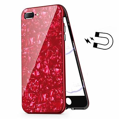 voordelige iPhone-hoesjes-hoesje Voor Apple iPhone 8 Plus / iPhone 7 Plus Beplating Volledig hoesje Schild Hard Gehard glas