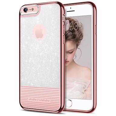 BENTOBEN Θήκη Za Apple iPhone 8 Plus / iPhone 7 Plus / iPhone 6 Plus Pozlata / Ultra tanko / Šljokice Stražnja maska Jednobojni Mekano TPU / PC za iPhone 8 Plus / iPhone 7 Plus / iPhone 6s Plus