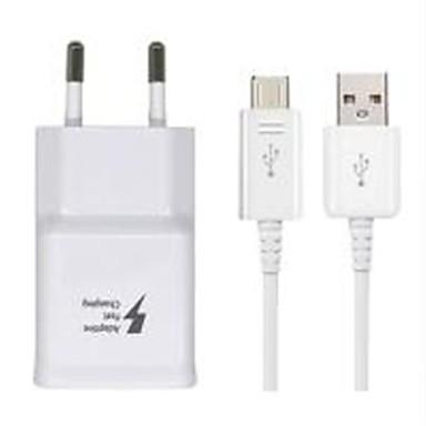 Prenosivi punjač USB punjač EU utikač sa kabelom 1 USB port 2.1 A 100~240 V za