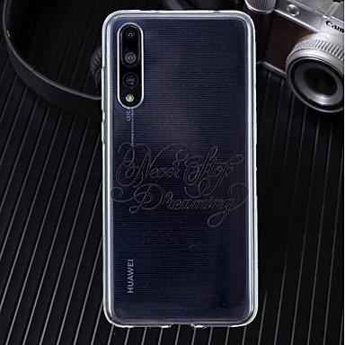 Θήκη Za Huawei Huawei P20 / Huawei P20 Pro / Huawei P20 lite Ultra tanko / Prozirno / Uzorak Stražnja maska Riječ / izreka Mekano TPU / P10 Lite