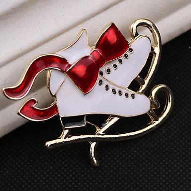 Žene Kubični Zirconia Broševi Klasičan Kostimi Djeda Mraza Za cipele Klasik Crtići Slatka Style Umjetno drago kamenje Broš Jewelry Obala Za Božić Dnevno