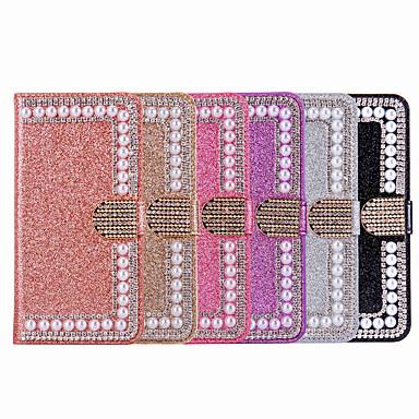 voordelige Galaxy Note-serie hoesjes / covers-hoesje Voor Samsung Galaxy Note 9 / Note 8 Portemonnee / Kaarthouder / Strass Volledig hoesje Effen / Glitterglans / Strass Hard PU-nahka