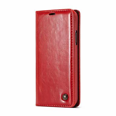 CaseMe Θήκη Za Apple iPhone X Novčanik / Utor za kartice / Zaokret Korice Jednobojni Tvrdo PU koža za iPhone X / iPhone 8 Plus / iPhone 8