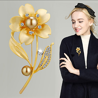 Žene Kristal Broševi Klasičan Cvijet dame Luksuz Korejski Elegantno Austrijski kristal Broš Jewelry Zlato Pink Za Vjenčanje Angažman Večer stranka Prom Obećanje Festival