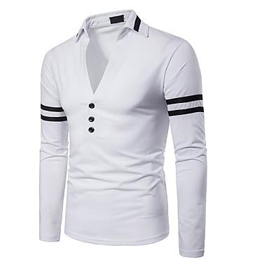 Polo Muškarci Izlasci Color block Kragna košulje Slim Obala / Dugih rukava