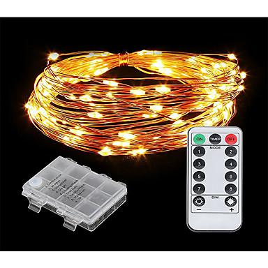 10m Žice sa svjetlima 100 LED diode Toplo bijelo / Hladno bijelo New Design / Ukrasno / Divan AA baterije su pogonjene 1set / IP44