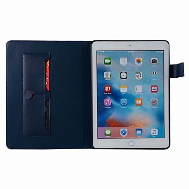 voordelige iPhone-hoesjes-hoesje Voor Apple iPad Air / iPad 4/3/2 / iPad Mini 3/2/1 Portemonnee / Kaarthouder / met standaard Volledig hoesje Effen Hard PU-nahka