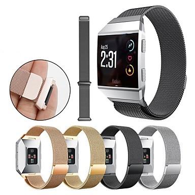 Недорогие Ремешки для спортивных часов-Ремешок для часов для Fitbit ionic Fitbit Миланский ремешок Нержавеющая сталь Повязка на запястье