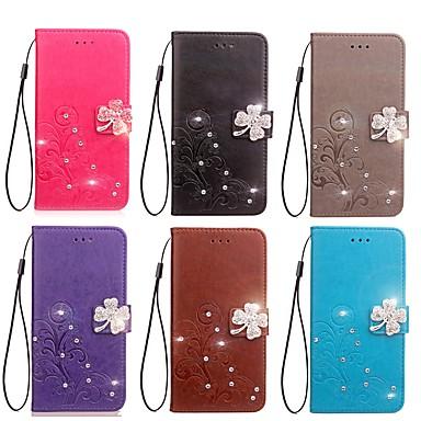 Θήκη Za Apple iPhone XS / iPhone XR / iPhone XS Max Novčanik / Utor za kartice / Štras Korice Jednobojni / Cvijet Tvrdo PU koža