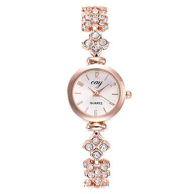 Žene Luxury Watches Narukvica Pogledajte Ručni satovi s mehanizmom za navijanje Kvarc Zlatna Casual sat Analog dame Moda Minimalistički - Zlatna