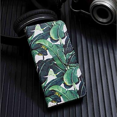 غطاء من أجل Samsung Galaxy J8 / J7 (2017) / J6 محفظة / حامل البطاقات / مع حامل غطاء كامل للجسم شجرة قاسي جلد PU