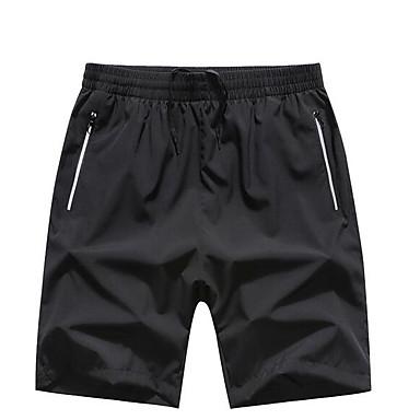Muškarci Osnovni Veći konfekcijski brojevi Dnevno Kratke hlače Hlače - Jednobojni Crno-bijela Crn XXXXXL XXXXXXL 8XL