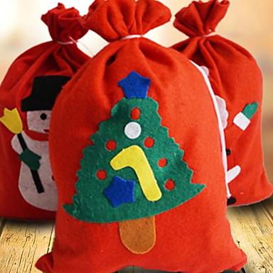 Poklon vrećice Odmor Tekstil Pravokutno Noviteti Božićni ukras
