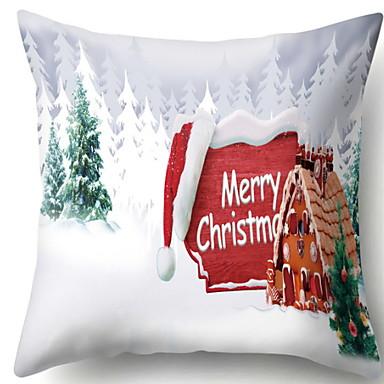 Navlaka za jastuk Predbožićna Flanel Kvadrat Noviteti Božićni ukras