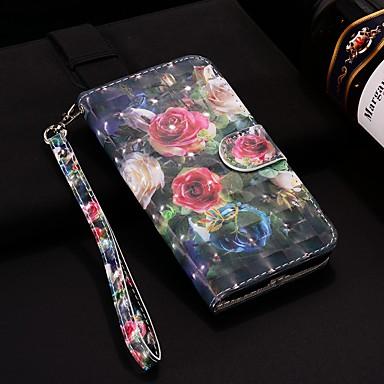 Θήκη Za Samsung Galaxy Note 9 Novčanik / Utor za kartice / sa stalkom Korice Cvijet Tvrdo PU koža