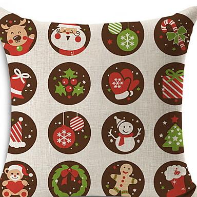 غطاء الوسادة / عيد الميلاد عيد الميلاد المجيد / عطلة البوليستر مستطيل حزب / حداثة زينة عيد الميلاد