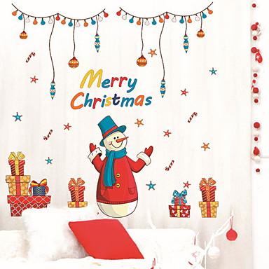 فيلم نافذة وملصقات زخرفة عيد الميلاد عطلة / شخصية PVC جميل / تصميم جديد