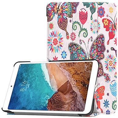 Недорогие Чехлы и кейсы для Xiaomi-Кейс для Назначение Xiaomi Xiaomi Tab 4 со стендом / Флип / С узором Чехол Бабочка Твердый ПК