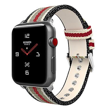 Pogledajte Band za Apple Watch Series 4/3/2/1 Apple Kožni remen Najlon / Prava koža Traka za ruku