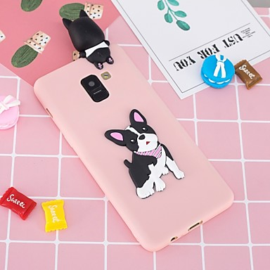 voordelige Galaxy A-serie hoesjes / covers-hoesje Voor Samsung Galaxy A5(2018) / A6 (2018) / A6+ (2018) Patroon / DHZ Achterkant Hond Zacht TPU