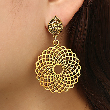 Žene Viseće naušnice Flower Shape dame Jednostavan Etnikai Boho Naušnice Jewelry Zlato Za Svečanost Večer stranka 1 par