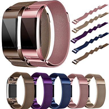 حزام إلى Fitbit Charge 2 فيتبيت عقدة ميلانزية ستانلس ستيل شريط المعصم