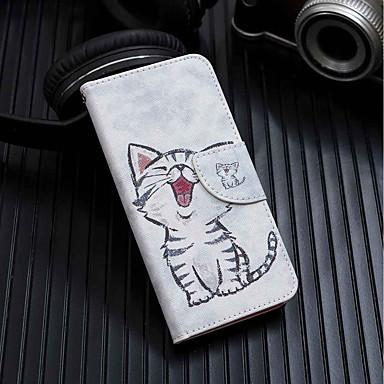 Θήκη Za Xiaomi Redmi 6A / Redmi 6 Novčanik / Utor za kartice / sa stalkom Korice Mačka Tvrdo PU koža