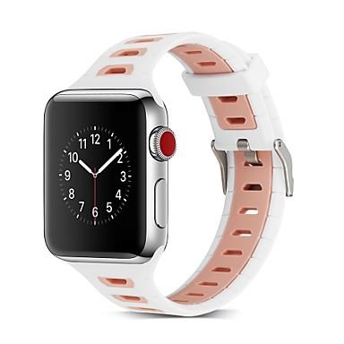سيليكون حزام حزام إلى Apple Watch Series 4/3/2/1 أسود / أخضر 23CM / 9 بوصة 2.1cm / 0.83 Inches