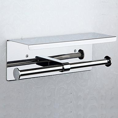 Držač toaletnog papira New Design / Cool Moderna Nehrđajući čelik / željezo 1pc Držači za toaletni papir Zidne slavine