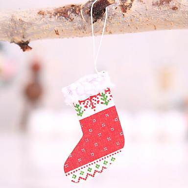 Božićne čarape Predbožićna drven Kvadrat Noviteti Božićni ukras