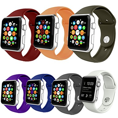 Watch Band na Apple Watch Series 5/4/3/2/1 Jabłko Pasek sportowy Silikon Opaska na nadgarstek