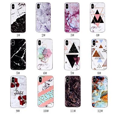 Θήκη Za Apple iPhone X / iPhone 8 Plus / iPhone 8 IMD / Uzorak Stražnja maska Mramor Mekano TPU