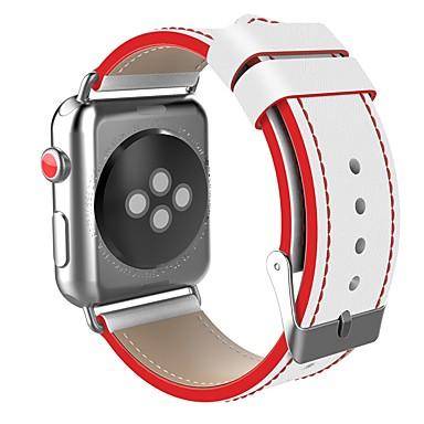 olcso Karóra tartozékok-Rozsdamentes acél Nézd Band Szíj mert Apple Watch Series 4/3/2/1 Fekete / Piros 23cm / 9 inch 2.1cm / 0.83 Hüvelyk