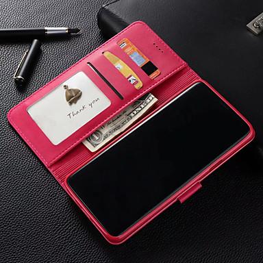 Θήκη Za Samsung Galaxy S9 Plus / S9 Novčanik / Utor za kartice / Otporno na trešnju Korice Jednobojni Tvrdo PU koža za S9 / S9 Plus / S8 Plus