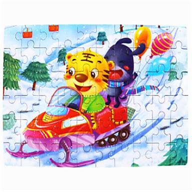 Drvene puzzle Mačka Škola / Ručno izrađeni / Dekompresijske igračke drven 1 pcs Djeca / Tinejdžer Poklon
