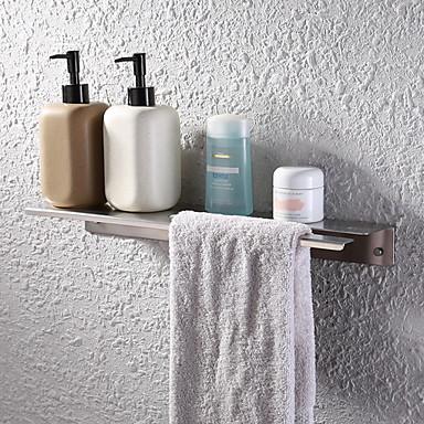 رف الحمام تصميم جديد معاصر الفولاذ المقاوم للصدأ / الحديد 1PC مثبت على الحائط
