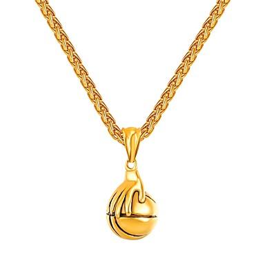 Muškarci Ogrlice s privjeskom Stog Lopta Casual / sportski Moda Tikovina Zlato Pink 55 cm Ogrlice Jewelry 1pc Za Dar Ulica