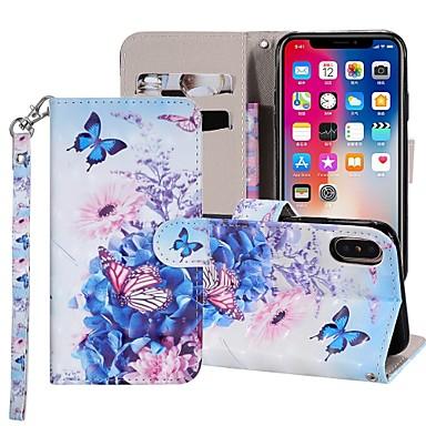 Θήκη Za Apple iPhone XS / iPhone XR / iPhone XS Max Novčanik / Utor za kartice / sa stalkom Korice Rukav leptir Tvrdo PU koža