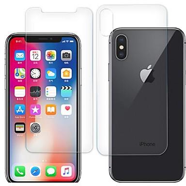 voordelige iPhone screenprotectors-AppleScreen ProtectoriPhone XS High-Definition (HD) Voorkant- & achterkantbescherming 2 pcts Gehard Glas