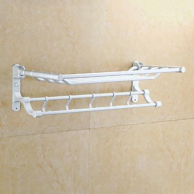 قضيب المنشفة تصميم جديد معاصر الالومنيوم 1PC مزدوج مثبت على الحائط