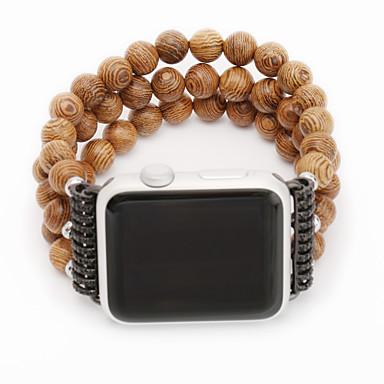 Pogledajte Band za Apple Watch Series 5/4/3/2/1 Apple Dizajn nakita Drvo Traka za ruku