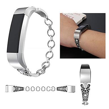 voordelige Smartwatch-accessoires-Horlogeband voor Fitbit Alta HR / Fitbit Alta Fitbit Sportband Roestvrij staal / Keramiek Polsband