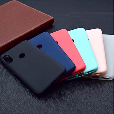 Недорогие Чехлы и кейсы для Xiaomi-Кейс для Назначение Xiaomi Xiaomi Mi 8 / Xiaomi Mi 8 SE / Xiaomi Mi 6X(Mi A2) Матовое Кейс на заднюю панель Однотонный Мягкий ТПУ