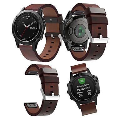 olcso Nézd Zenekarok Garmin-smartwatch sáv a fenix 5 / 5plus / előfutárhoz 935/945 garmin csúcsminőségű bőr hurok valódi bőr zenekar gyorsfényű csuklópánt 22mm