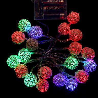 2m Žice sa svjetlima 20 LED diode Više boja Ukrasno / Cool AA baterije su pogonjene