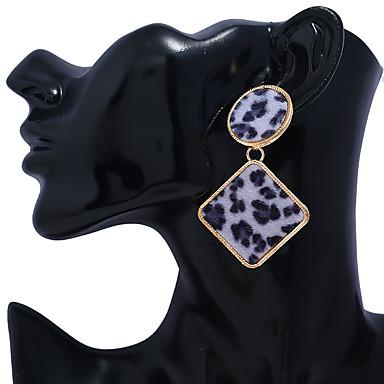 Žene Viseće naušnice Retro dame Vintage Hiperbola Etnikai Naušnice Jewelry Kava / Crvena / Mornarsko plava Za Svečanost Ulica 1 par